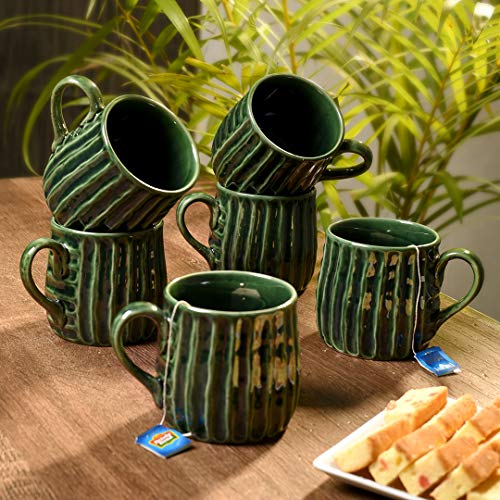 Unravel India studio ceramic tea/coffee mug (Set of 6)