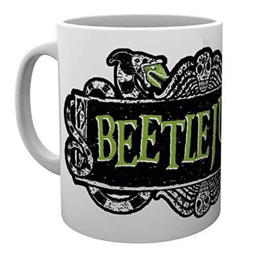 Official Licensed Beetlejuice Logo White Ceramic Coffee Mug (Mug Coffee Beetlejuice)