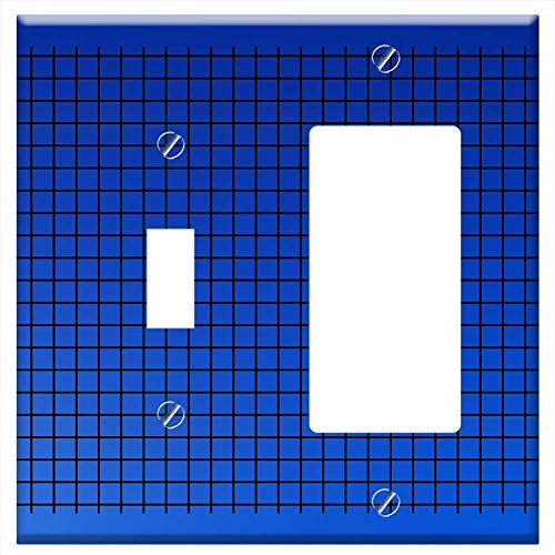 (1-Toggle 1-Rocker/GFCI Combination Wall Plate Cover - Background Diamonds Computer Paper Rectangle )