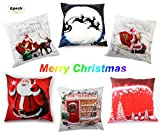 6 Pack Christmas Pillow Cover/Christmas Elements/ 18' x 18' for...