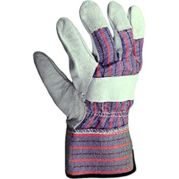Azusa Safety S96115 Natural Leather Safety Work Gloves, X-Large, Natural Color (Pack of 12 Pairs)