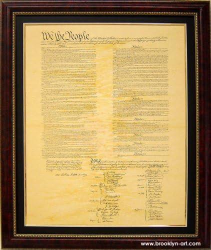 Amazon|のアメリカ合衆国憲法高品質レプリカFramed and matted ...