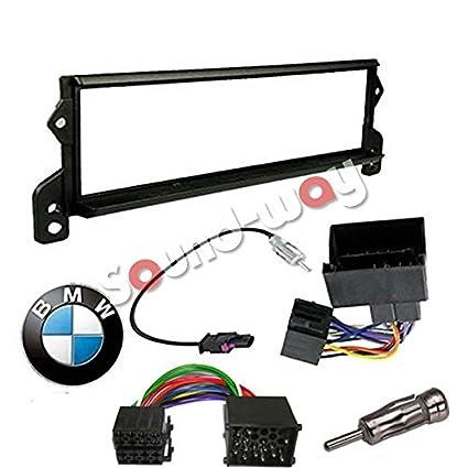 Kit de montaje marco para radio adaptador autorradio 1 DIN mini cooper 2000 - 2006 negro