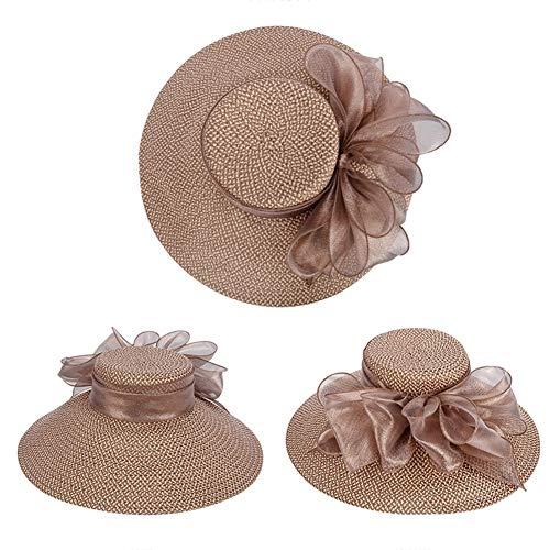 Sombrero Sol Visera Verano Claro De Solar Playa Protección Plegable Marrón Playa Brown Jinrong Marea Femenino aqwqIr1zx