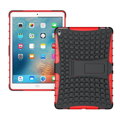 iPad Pro 9.7 Funda,COOLKE Duro resistente Choque Heavy Duty Case Hybrid Outdoor Cover case Bumper protección Funda Para Apple iPad Pro 9.7 - verde Rojo