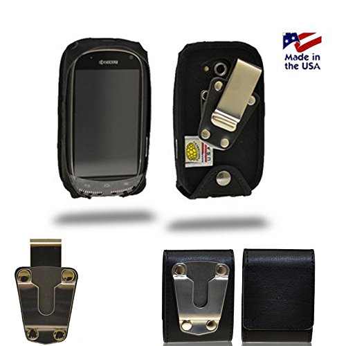 Rugged Heavy Duty Canvas Fitted Case for Kyocera Torque. Comes with Duty Belt Clip and smaller Steel clip. Perfect for Police, contractors, landscapers, fire fighters and outdoor workers when you need extra strength protecting your phone.