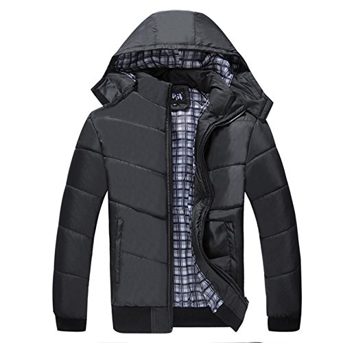 Cotton men black for thick jacket jacket padded cotton HHY L padded Oqwada