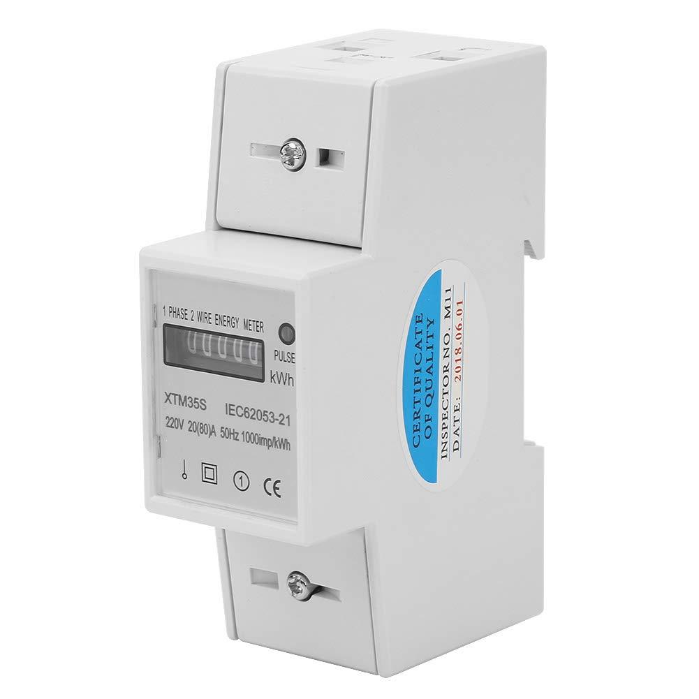 A Compteur /électrique digital Din Rail /Électronique KWh M/ètre Compteurs d/énergie Compteur /électrique Compteur /électrique monophas/é 220V 2 fils 2P 20 80