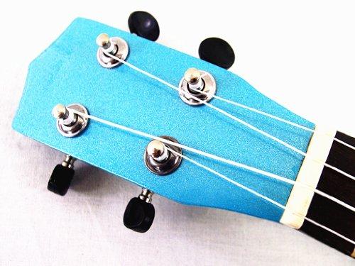 WOODNOTE Beautiful Wooden Blue with Round Hole 21' Soprano Ukulele/rosewood Fingerboard & Bridge