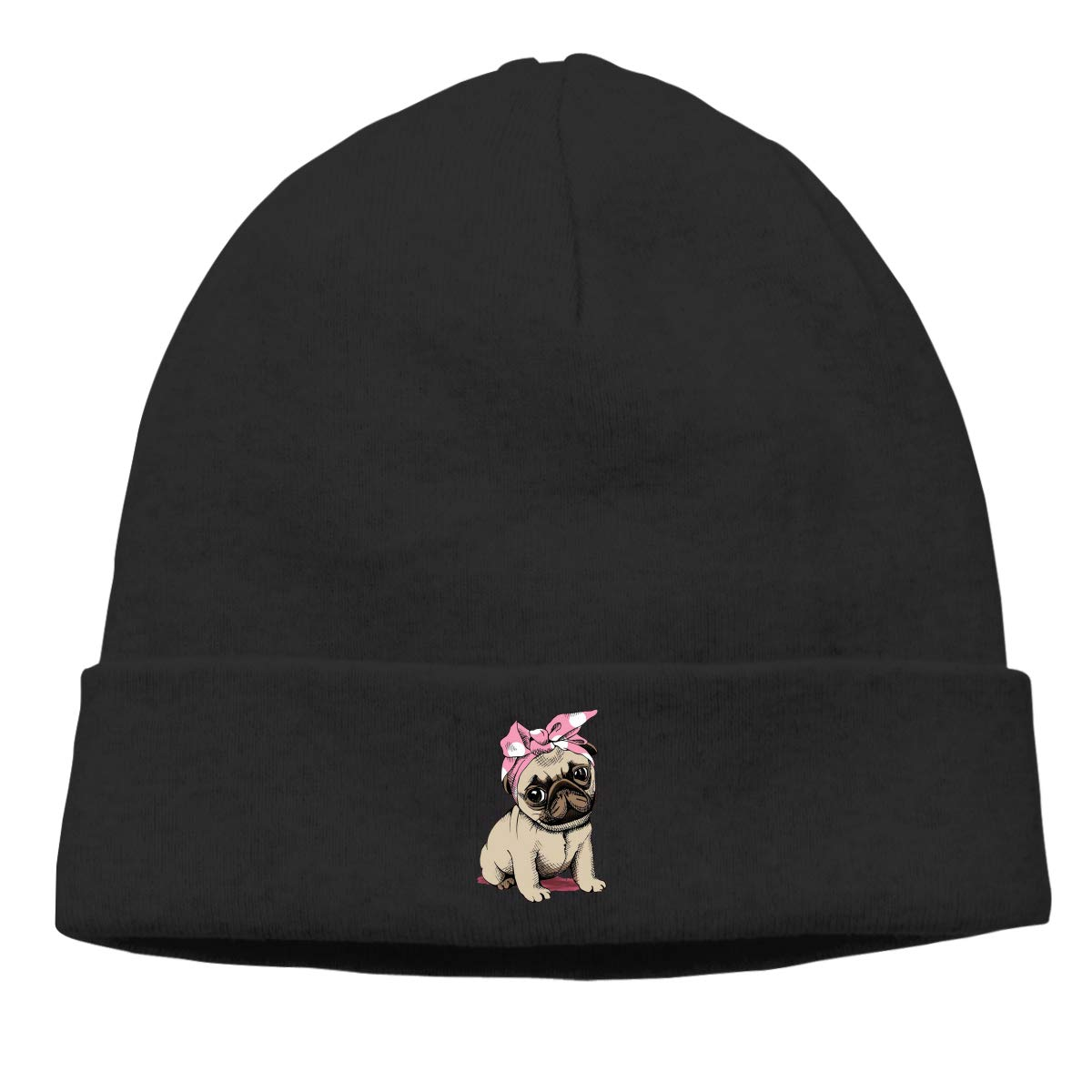 Year Round Comfort Serious Beanies for Serious Style Stretchy /& Soft Beanie Hats for Men /& Women Kljdiasjw Pink Pug Warm