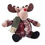 PER Lovely Christmas Cartoon Stuffed Doll Xmas Room Decoration Home Decors Ornaments-Reindeer
