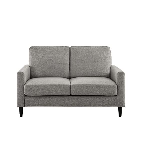 Dorel Living Beckie Loveseat, Gray Love Seats -  - sofas-couches, living-room-furniture, living-room - 51FKkJYXF8L. SS570  -