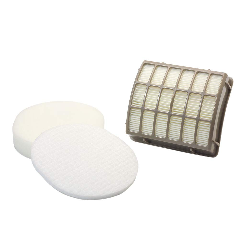 HEPA Filter and Foam & Felt Filter Replacements for Shark XFF80 XHF80 Upright Vac Vacuum Cleaner Models NV80, NV70, NVC80C, UV420, NV90