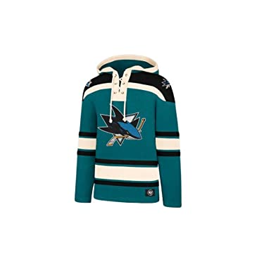 35ae5eed566a6 Amazon.com: '47 Brand NHL San Jose Sharks Lacer Hoody Jersey Trikot  Kapuzenpullover Forty Seven: Clothing