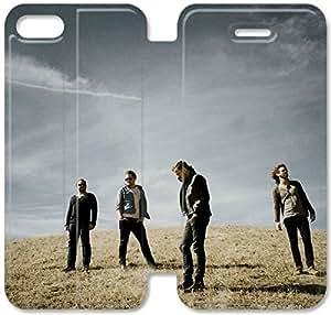 Imagine Dragons E5C04Y9 iPhone 5 5S 5SE Flip funda de cuero funda E4V54F3 funda de cuero caja de plástico teléfono duradero