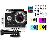 Action Camera Ultra HD Waterproof Wide Angle+ Full Sports DV 1080P WIFI Sports Camera with 2 Inch LCD Display 12MP 170° Wide Angle+ Car Video Camera