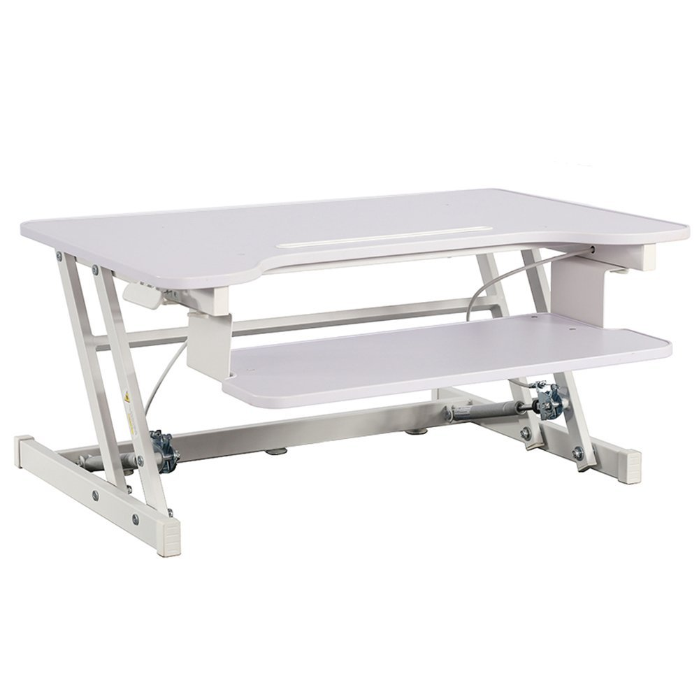 Adjustable Height Standing Desk,Stand Up Desk Sit Stand Desk with Keyboard Tray (Renewed)
