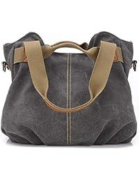 88514aa31350 Women's Ladies Casual Vintage Hobo Canvas Daily Purse Top Handle Shoulder  Tote Shopper Handbag