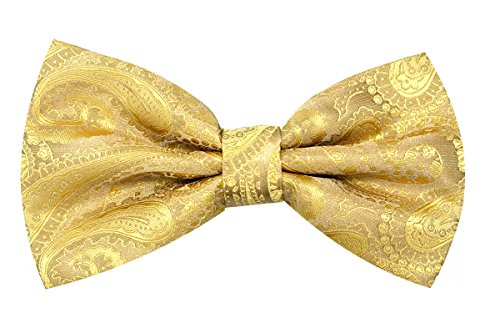 Oliver George Paisley Bow Tie (Gold) #2313-B (Gold Bow Tie)