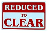 1 Pc Expert Popular Reduced to Clear Sign Indoor Declare Information 1-Side Printed Size 7