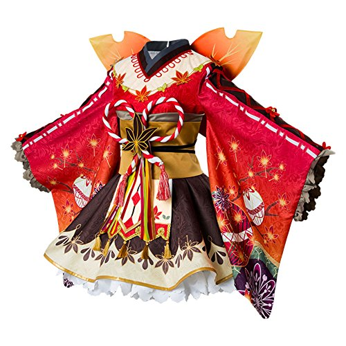 Costhat Love Live!Aqours Kunikida Hanamaru Autumn Viewing Cosplay Costume Kimono Dress by Costhat (Image #1)