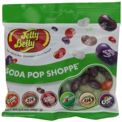 Jelly Belly Soda Pop Shoppe Jelly Beans, 6 Soda Flavors, 3.5-oz, 12 Pack
