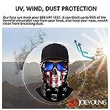 JOEYOUNG 3D Face Sun Mask, Neck