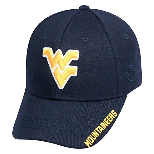 Top of the World NCAA-Premium Collection-One-Fit-Memory Fit-Hat Cap-West Virginia Mountaineers (Virginia Mountaineers West Basketball Men)