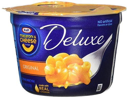 Kraft Macaroni & Cheese Deluxe, Original Cheddar Cups 4 Pack, 9.56 Ounce