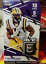 2017 Panini Elite Collegiate Draft Picks Football Hobby 5 Pack Box (Sealed)