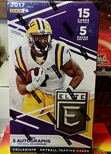 2017 Panini Elite Collegiate Draft Picks Football Hobby 5 Pack Box (Picks Football Box)