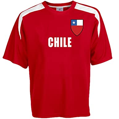 fb6d06a05ff Amazon.com  Custom Chile Soccer Jersey Personalized with Your Names ...
