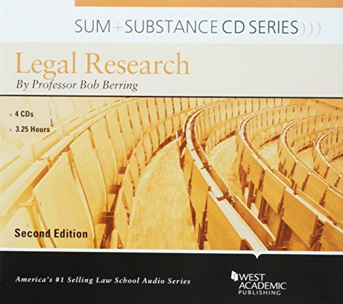Sum and Substance Audio on Legal Research by West Academic Publishing