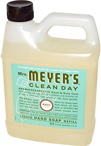 Mrs. Meyers Liquid Hand Soap Refill Liquid 33 Oz Basil Scent