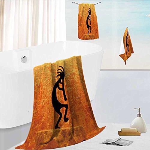 large luxury bath towel set kokopelli statue For Home Spa Pool Gym Use 13.8