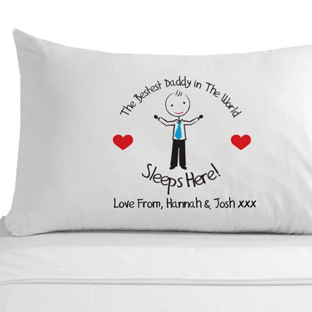 Personalised Bestest Daddy in the World Pillowcase