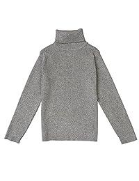 VduanMo Little Girls & Boys Solid Turtleneck Cotton Sweater Coats(1-5T)