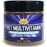 Pet Multivitamin Powder for Dogs and Cats | Minerals Vitamins Antioxidants and Enzymes for Skin Joint Hip Immune Heart and Brain
