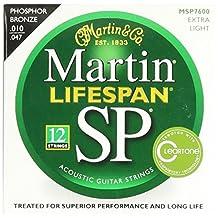 Martin MSP7600 SP Lifespan 92/8 Phosphor Bronze Acoustic String, Extra Light, 12-String