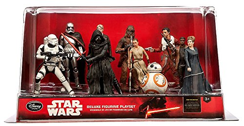Star Wars the Force Awakens Figurine Set - Disney Store 10 Deluxe Figurine | Perfect for Star Wars Fans | for Kids and Collectors | Durable Non-Flexible Figures | for Ages 3 and above