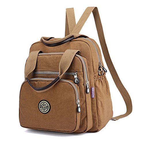Elegant Travel Fashion Khaki Women Bag Multipurpose Shoulder Bag Stylish Nylon Lady Backpack JOSEKO Shoulder pYqAnTq