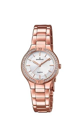 Candino Reloj Analógico para Mujer de Cuarzo con Correa en Acero Inoxidable C4630/1: Amazon.es: Relojes