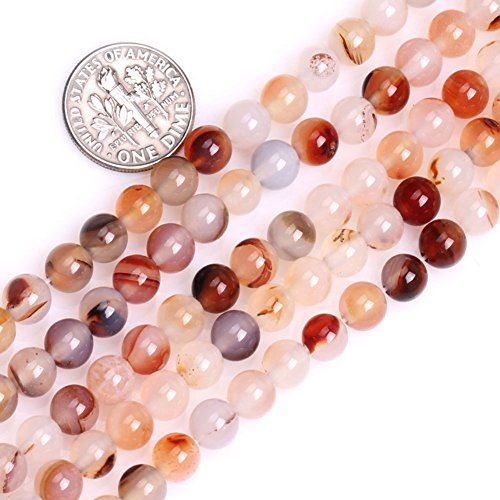 GEM-inside Red Leaf Carnelian Gemstone Loose Beads Natural Energy Power Beads For Jewelry Making 6mm Round 15 Inches