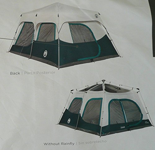 Amazon.com  Coleman Instant 10 Person Cabin Tent with Rain Fly 2 Rooms 6 Ft 4 In Center Height  Sports u0026 Outdoors & Amazon.com : Coleman Instant 10 Person Cabin Tent with Rain Fly 2 ...