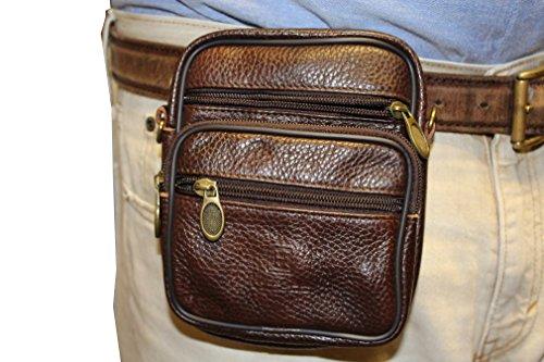 Diamondback Leather (Leather #4 Waist Belt Pouch Concealment Gun Pouch Ruge,Sig Sauer P238, Kel-Tec,S&W Bodyguard Diamondback P380)