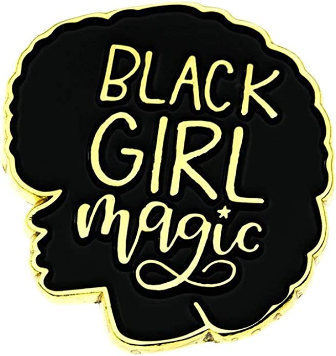 Black Girl Magic Lapel Pin YELLOW