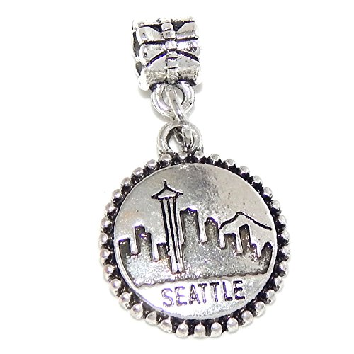 Charm Seahawks Seattle Silver - Silver Plated Dangling