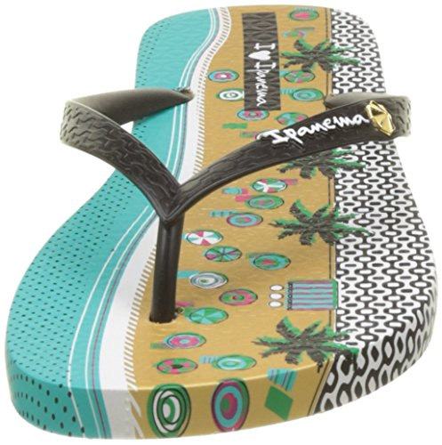 Ipanema I Love Tribal Fem - Sandalias de dedo Mujer Beige (Beige/Black)