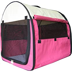"New 24"" Pet Dog Pet Cat Carrier Travel Home *Pink*"