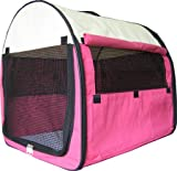 New 24'' Pet Dog Pet Cat Carrier Travel Home *Pink*